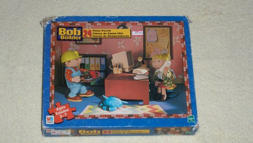 Bob the Builder 24 piece puzzle - office theme with Wendy - 2005 MB Puzzle
