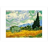 Posters: Vincent Van Gogh Poster Art Print - Wheatfield With Cypresses (28 x 20 inches)