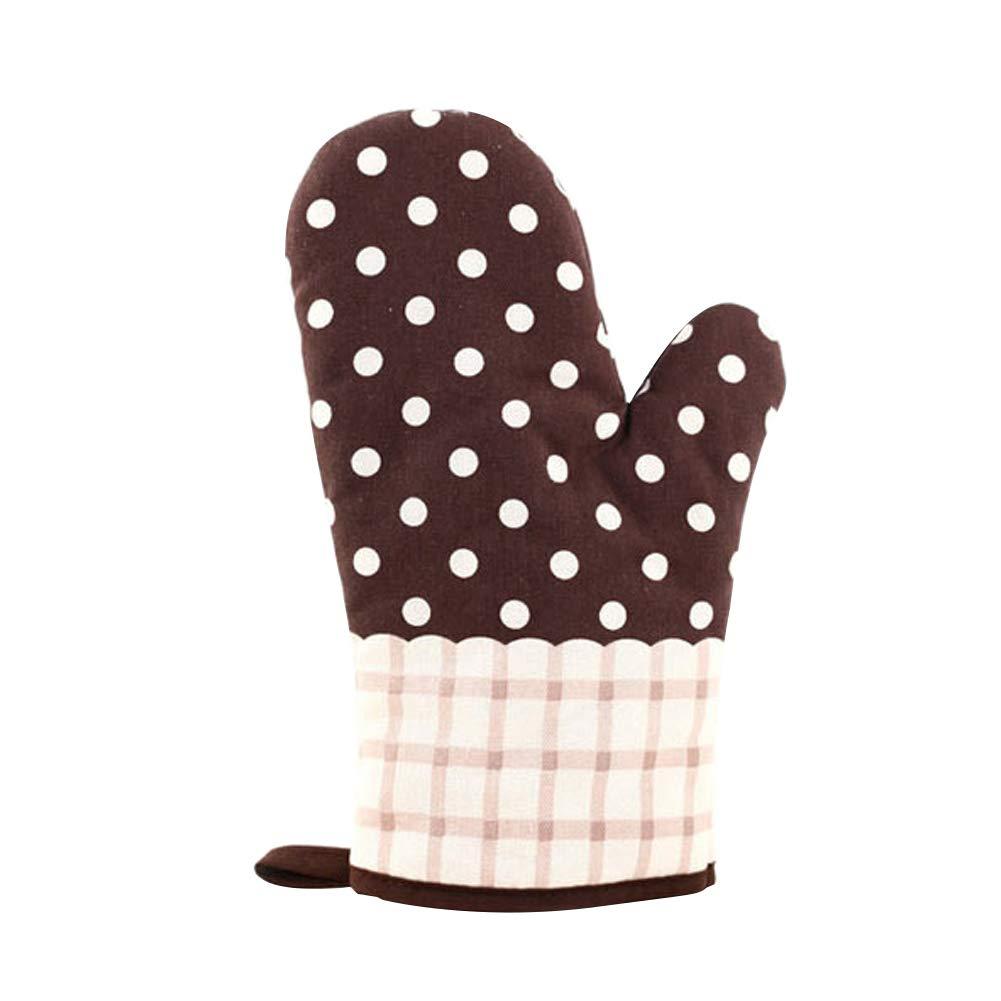 farawamu Oven Glove, Flower Grid Heat Insulation Oven Mitt Thickened Glove Kitchen Baking Tool