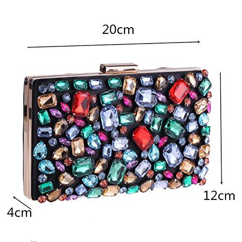 Evening Clutch Color Wedding Shoulder Handbag Multicolored Multi Women MSFS Party Dress Bag Chain 1SnZwEq4I
