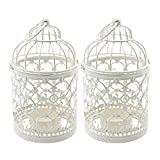 Ciaoed Small Metal Tealight Hanging Birdcage Lantern