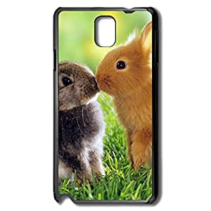 AOPO Phone Skin For Samsung Note 3,Rabbits Kiss Personalize Making Samsung Note 3 Cavers