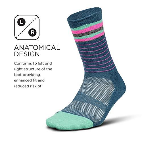 7609b61d3e Feetures - Elite Light Cushion - Mini Crew - Athletic Running Socks for Men  and Women