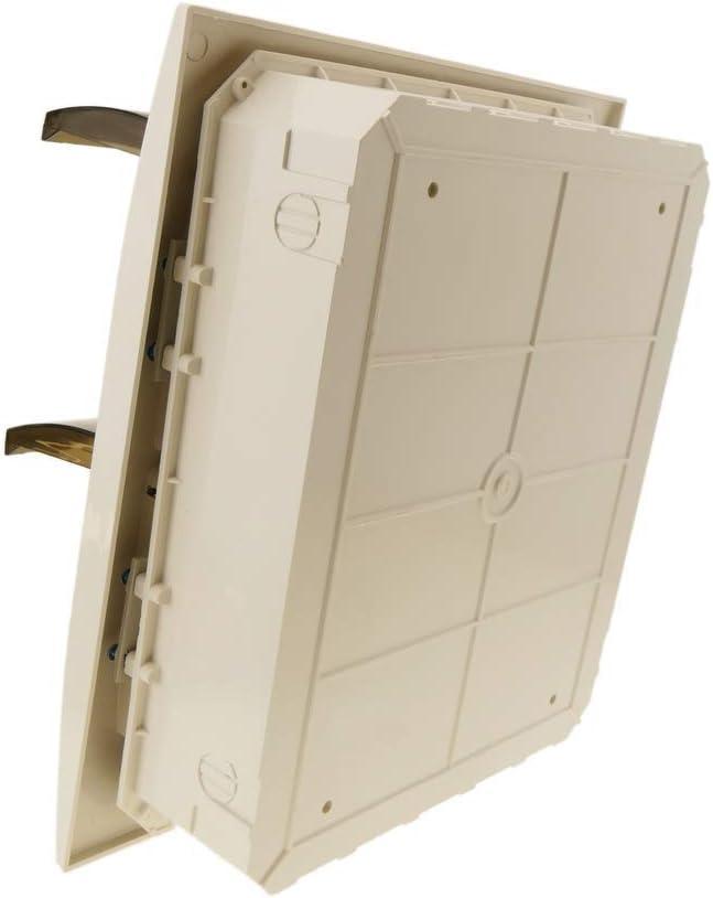 BeMatik - Caja de distribución eléctrica de 24 módulos de empotrar de plástico ABS SPN IP40: Amazon.es: Electrónica