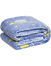 WBHome Glow in The Dark Throw Blanket 50×60 inch