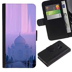 YiPhone /// Tirón de la caja Cartera de cuero con ranuras para tarjetas - Templo indio - Samsung Galaxy S3 MINI 8190