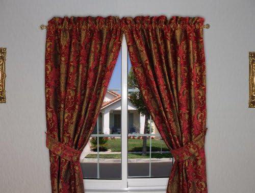 Sherry Kline China Art Red Luxury Window Panel Pair