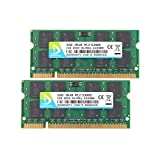 DUOMEIQI 4GB Kit(2X 2GB) DDR2 RAM 2RX8 PC2-5300S 667MHz 200pin 1.8v SODIMM Notebook Laptop Memory Modules with