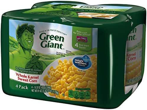Canned Vegetables: Green Giant Whole Kernel Sweet Corn
