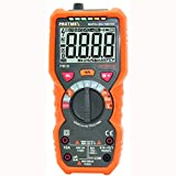 Protmex PM19 Auto Range Digital Multimeter, 6000 Counts True RMS DMM Tester Non Contact AC Voltage Detection Amp Ohm Volt Multi Meter Temperature, with LCD Backlit
