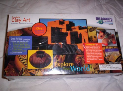 Discovery Channel Pueblo Clay Art Activity Kit and Pottery Wheel - Pueblo Kids For