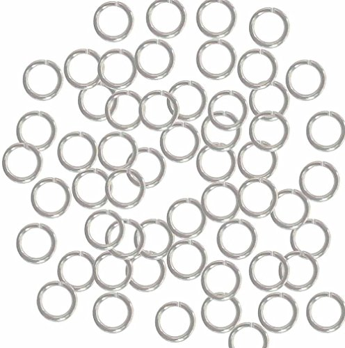 Rockin Beads 400 Jump Rings Silver-plated Brass 7mm Round, 18 Gauge 5mm Chain Links ()