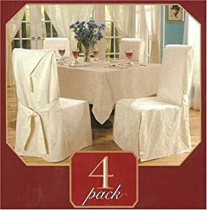 Luxury Woven Jacquard 4 PACK Dining Room Chair Cover
