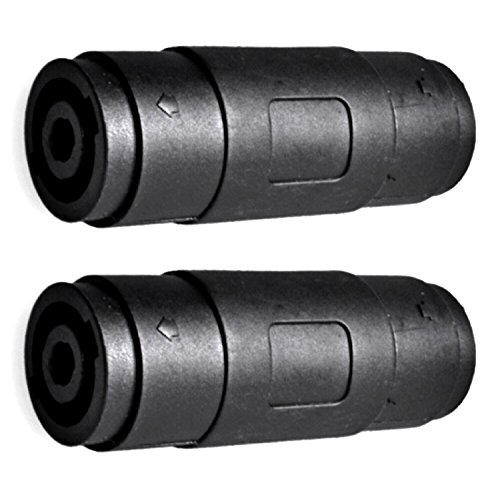 - CESS Speaker/Amp Speakon Compatible Female to Female Connector - Audio Speaker Jack Twist Lock 4 Pole - for NL4MP, NL4MPR, NL4FC, NL4FX, NLT4X, NL2FC, NL4 Series - (jcx) (2 Pack)