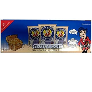 Pirate's Booty Aged Cheddar Lunch Packs, White, 0.5 Ounce (Pack of 24)