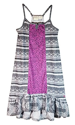 Roxy Girl Water Weave Sun Dress (Medium 10/12, Wtr Weave/Blk) -