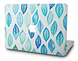 KEC Laptop Case for Old MacBook Pro 13' Retina (-2015) Plastic Case Hard Shell Cover A1502 / A1425 (Leaf - Green Blue)