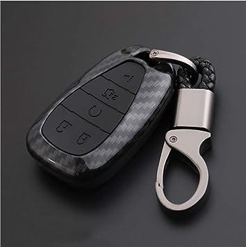Ontto Autoschlüssel Hülle Cover Für Chevrolet Malibu Camaro Cruze Spark Equinox Sonic Volt Bolt 2019 Plastik Schlüsselhülle Mit Schlüsselanhänger Schlüssel Schutz Etui Fernbedienung Kohlefaser Schwarz Auto