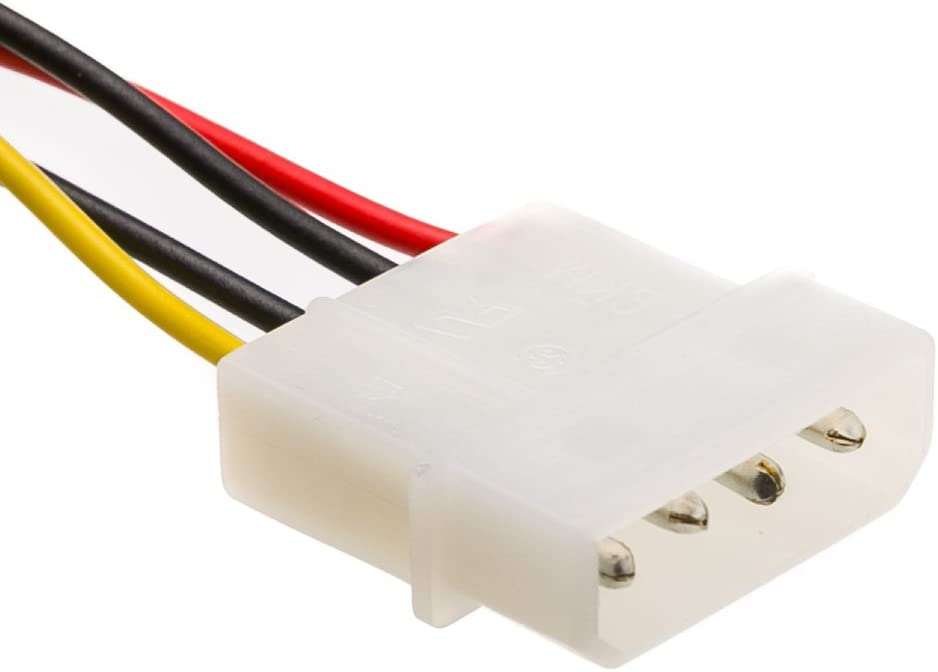 5.25 inch Male to 3.5 inch Female 4 Pin Molex to Floppy Power Cable 6 inch GOWOS 20-Pack