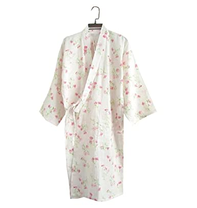 Frauen Pyjama / Bademantel - Kimono Robe - Leichte 100% Baumwolle ...