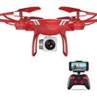 KXN KY151W RC Drone FPV Wifi RC Training Quadcopter with HD Camera 6-Axis Gyro 2.4GHz One Key Return Headless Mode One Key Return Easy Operation for Kids Beginners Adults (Red)