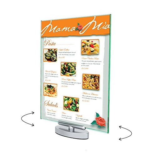Source One Premium 8 1/2 x 11 Swivel / Revolving Clear Sign Holder Menu Holder Ad Frame (S1-691590)