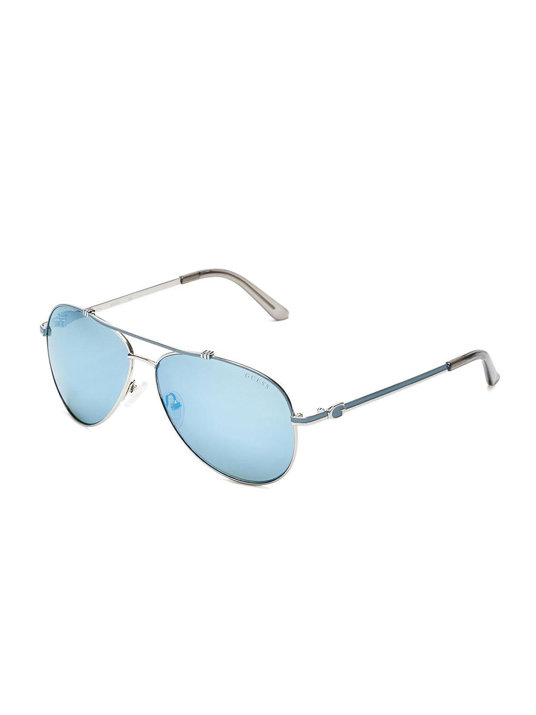 GUESS Women's Enamel Aviator Sunglasses
