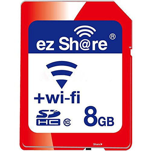 ez Share Wifi SD Card 8GB 16GB 32 GB Or Adapter WiFi SDHC Card Class10 SD Card Wireless Camera Memory Card for Camera Cannon SAMSUNG SONY FUJIFILM CASIO Nikon Panasonic PENTAX OLYMPUS (8GB)