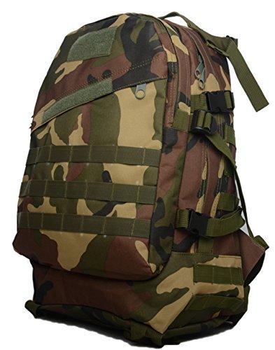 Bolsas de Camping resistente al agua MOLLE mochila militares 3P Tad Asalto Mochila Táctico Bolsa de viaje para los hombres, DCU Jungle Camo