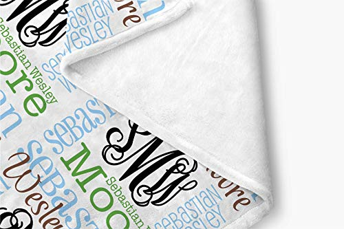 Personalized Baby Name Blanket Monogrammed Baby Shower Gift (Vine