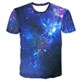 Snlydtan Summer Retro Graphic Galaxy Starry Sky Tee Shirts