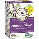 Traditionell Medicinals Organic Smooth Move Tea, 16 Tea Bags (Pack of 6)