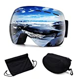 Argus Le OTG Ski Snowboard Goggles - Winter Sports Goggles Eyewear with Anti-Fog UV Protection, Windproof Spherical Dual Lens for Adults, Youth, Women & Men, Come with Storage Case