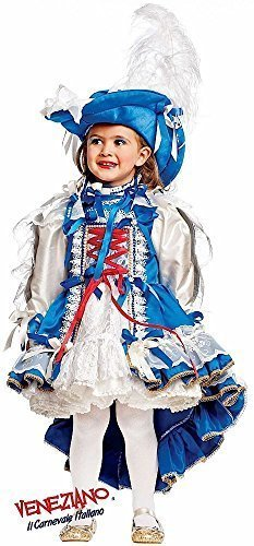 Italian Made Prestige Deluxe Baby & Older Girls French Musketeer Historical Carnival Pageant Fancy Dress Costume Outfit 0-10 Yrs (3 Years) -