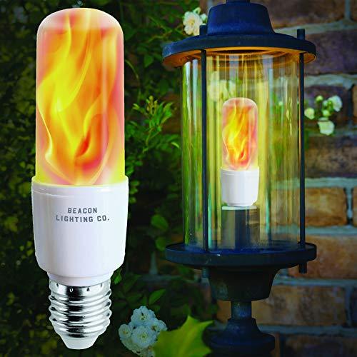 LED Flame Effect Light Bulbs - E26 LED Bulb with Gravity Sensor Flame Night Bulb for Home Hotel Bar Party -