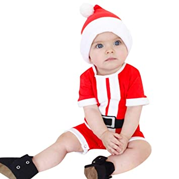 Amazon.com : Newborn Baby Girl Boy Christmas Costume Santa ...