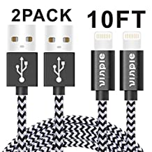 Vinpie iPhone Charger, 2Pack 10FT Extra Long 8 Pin Lightning to USB Cable Syncing and Charging Cord for Apple iPhone 7, 7 Plus, iphone SE,iPhone 6s, 6s+, 6+, 6,5s 5c 5,iPad Mini, Air,iPad5,iPod on iOS9