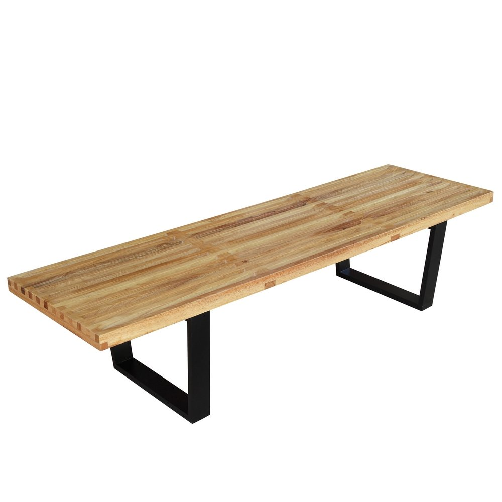 Fine Mod Imports Home Indoor Patio Wood Bench Natural