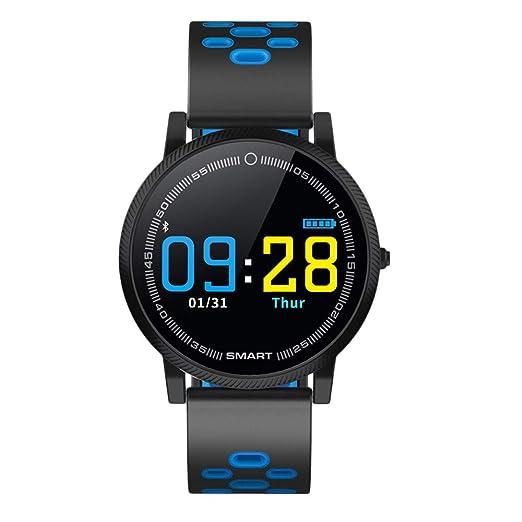 Reloj Inteligente DeportesPodómetro Smart Watch Actividad Monitor de Ritmo cardiaco Fitness Tracker Pulsera (Azul): Amazon.es: Relojes