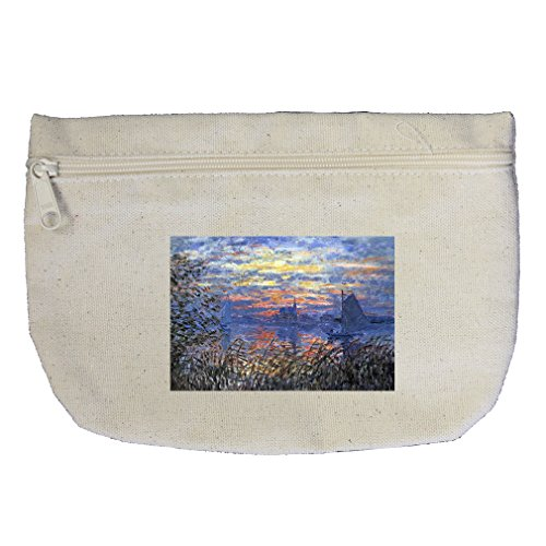 Tavern Canvas Art - Tavern (Manet) Canvas Makeup Bag Zippered Pouch
