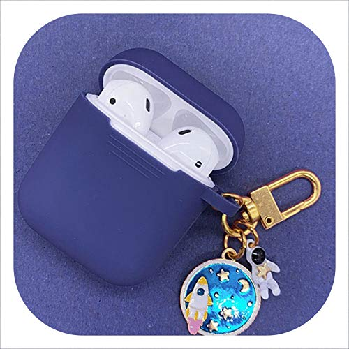 Cosmic Astronaut Spaceman Silicone Case for Airpods 1 2 Accessories Case Protective Cover Bag Box Earphone Case Key Ring,New 1