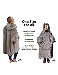 Oversized Blanket Sweatshirt,Super Soft Warm Comfortable Hoodie with Giant Front Pocket for Adults Men Women Teens