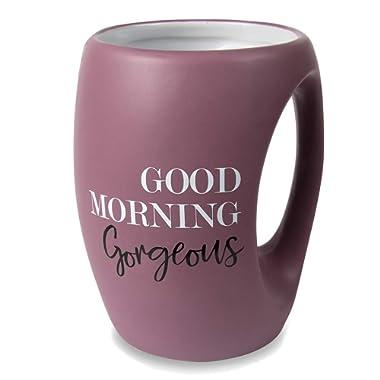 Pavilion Gift Company 10515 Good Morning Gorgeous 16 oz Mug, Purple