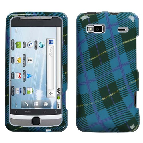 MYBAT HTCG2HPCIM636NP Slim and Stylish Protective Case for The HTC G2 - Retail Packaging - Blue Plaid Weave
