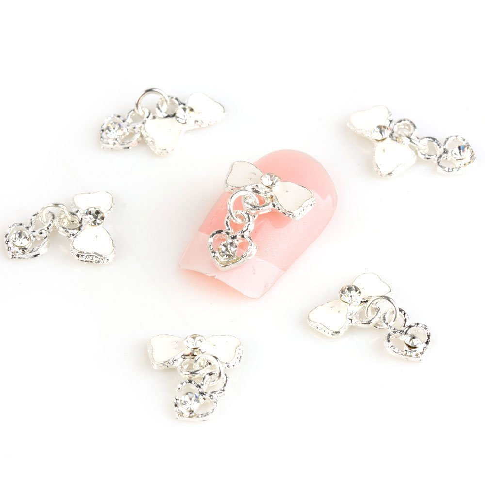 WEIYI Creative DIY Bow-knot 3D Rhinestone Nail Art Slice Nail Jewelry Nail Decoration
