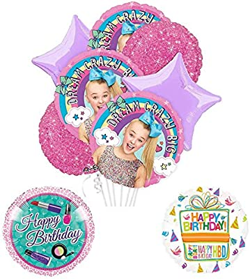 e0986d17edc Amazon.com  Mayflower Products JoJo Siwa Party Supplies and Dream Crazy Big  Birthday Balloon Bouquet Decorations  Toys   Games
