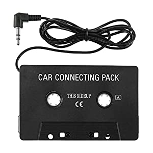 iPhone 6 Cassette Adapter, Insten Car Audio Cassette Adapter compatible with H Samsung Galaxy S6/Galaxy S9/S9+ Plus/s6 Edge Apple iPhone 6 4.7 inch , Black