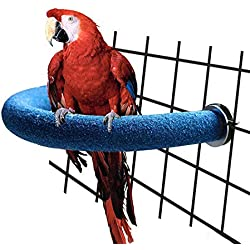 STAJOY Bird Toys,Parakeet Bird Cage Toys, Swing Chewing Hanging Parrot Perches with Bell, Parrot Mirror,Wooden Ladder Hammock for Conures,Cockatiels,Budgie and Lovely Birds (Bird Perch)