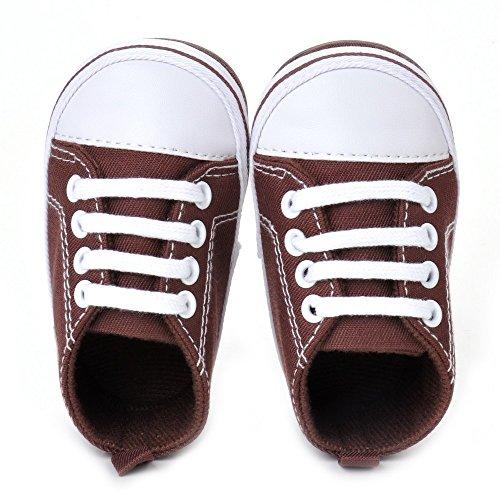estamico infantil unisex de bebé Lienzo Sneaker Zapatos de bebé rojo rosso Talla:12-18 meses marrón