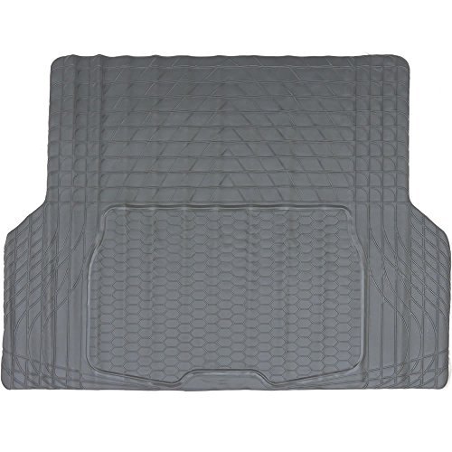 New All Weather Charcoal Gray Universal 1 Piece Car Van Truck Suv Large Rubber Cargo Trunk Mat